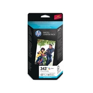 HP 343 Series Photo Starter Pack-60 sht/10 x 15 cm